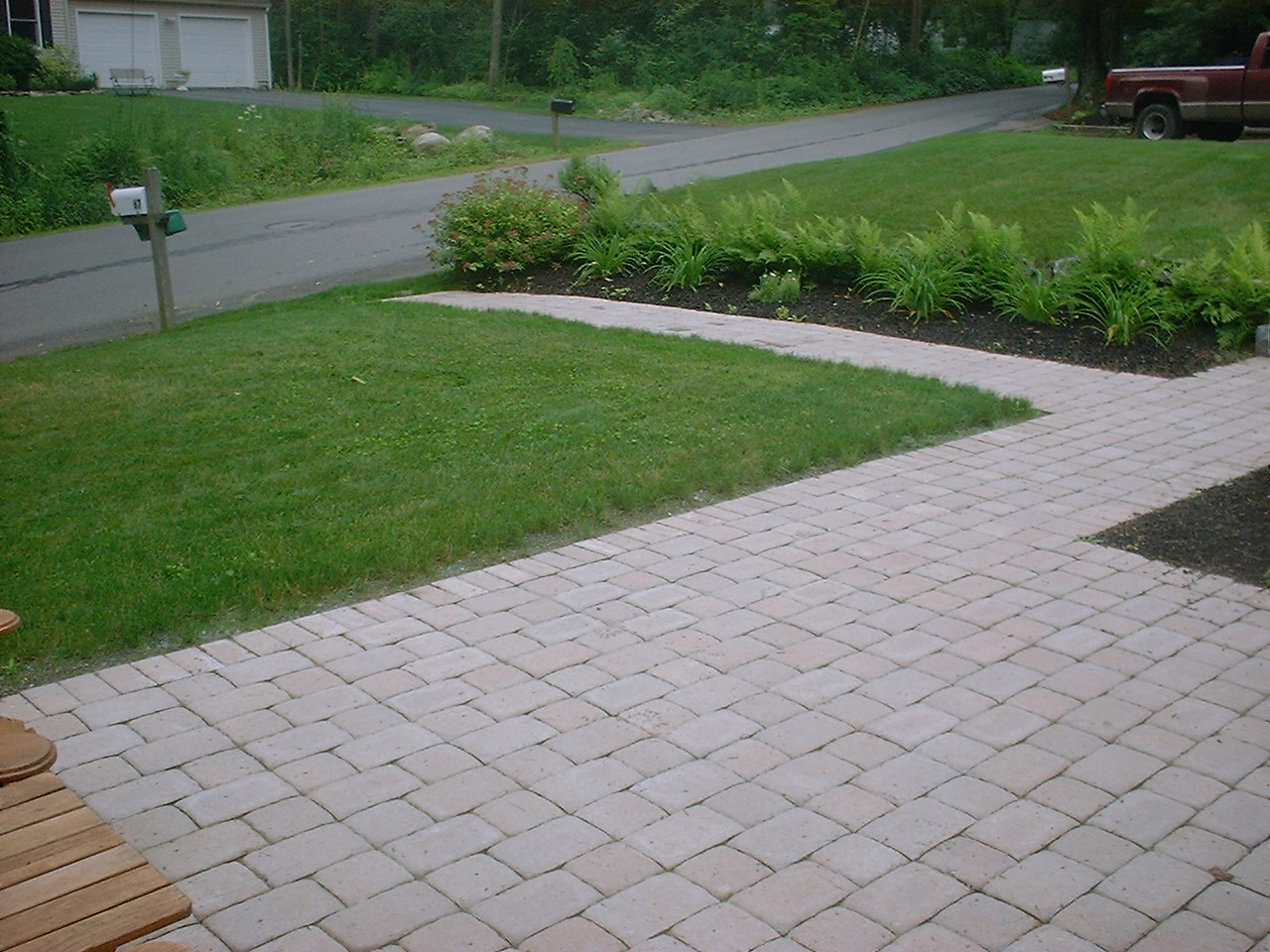 Walkway Patio Beds And Lawn In Derry Nh