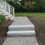 Walkway, Retaining Wall, Granite Steps and Brick Headwall – Kingston, NH
