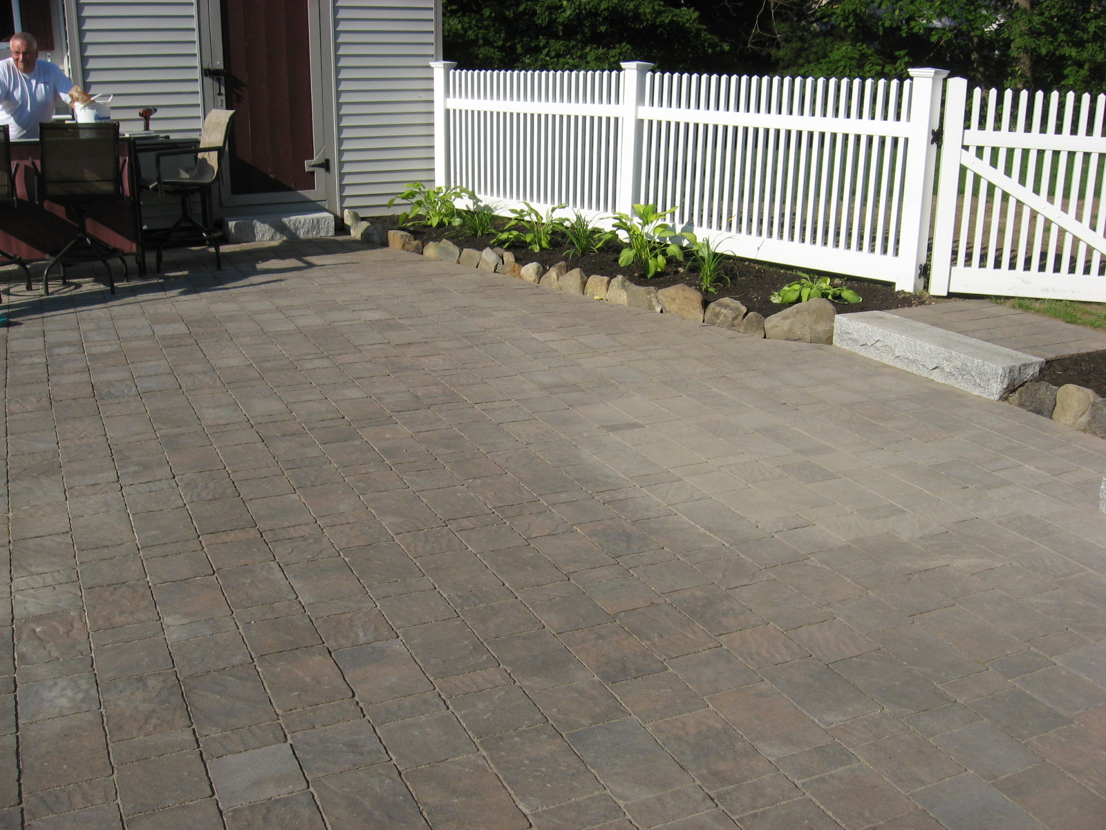 Brick Patio and Granite Steps – Salem NH