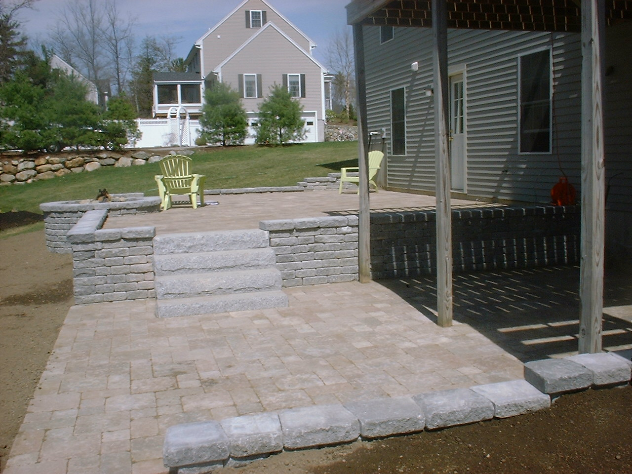 Retaining Walls, Brick Patios And Granite Steps In Groveland, MA