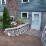 New retaining wall in Londonderry NH