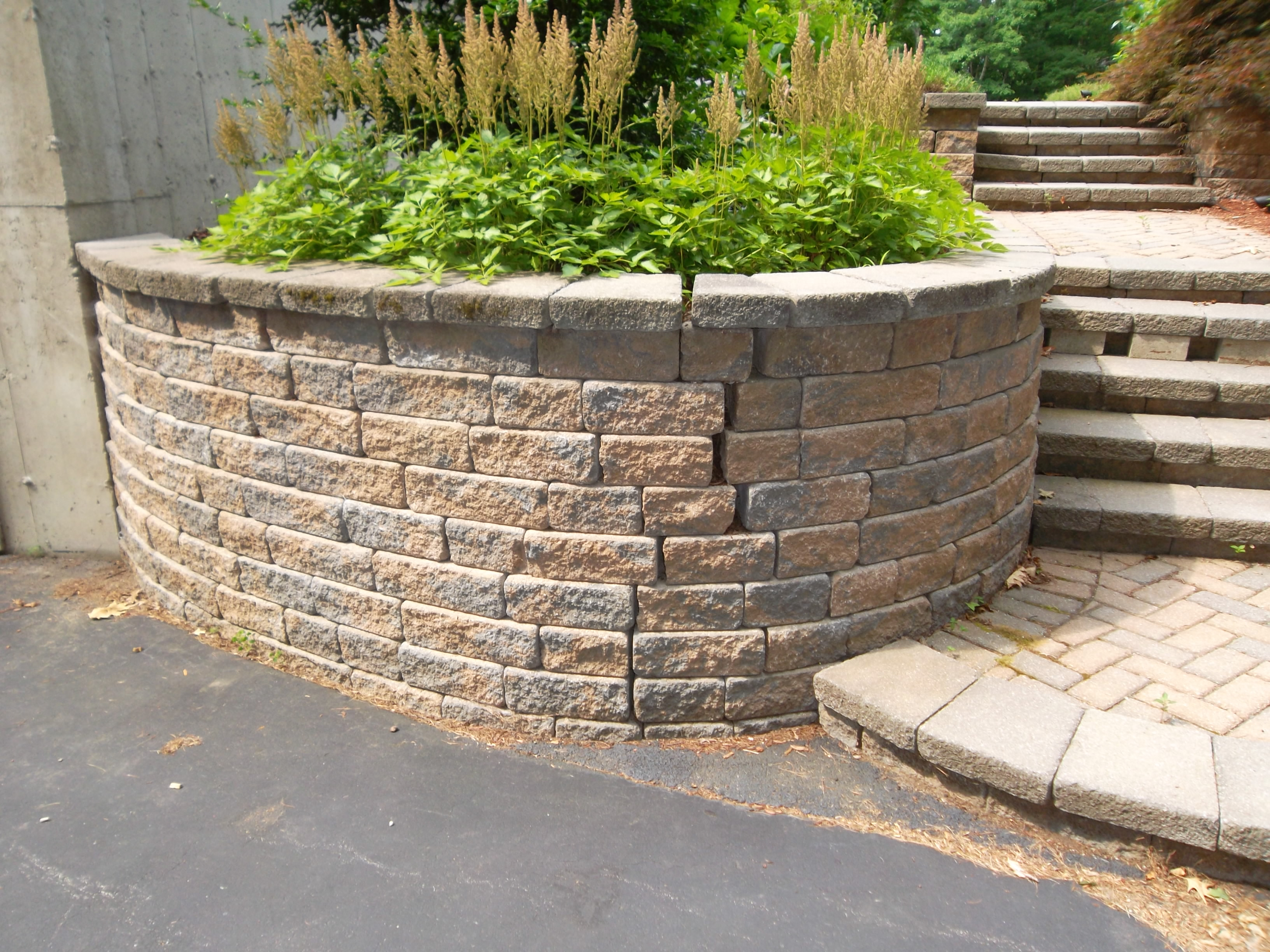 Retaining Wall And Walkway Repair Londonderry Nh