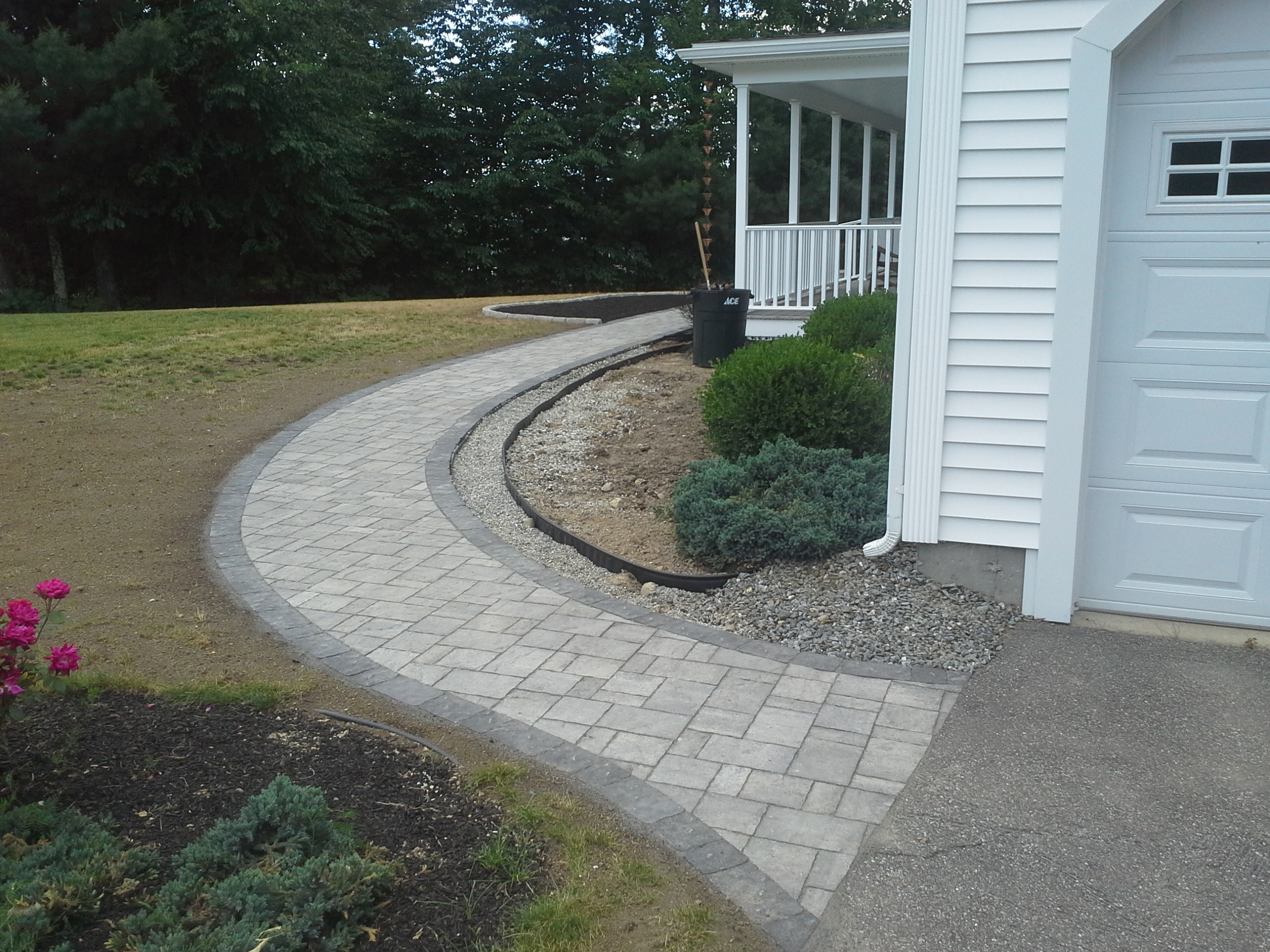 New Walkway New Planter Belgard Pavers Raymond Nh