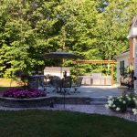 Finished Belgard Patio and Planters, Fremont, NH